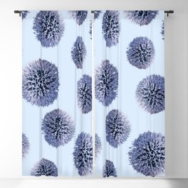 Monochrome - Starry night on the thistle globe Blackout Curtain