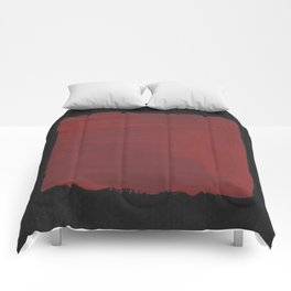 Sideways Red Square Comforters
