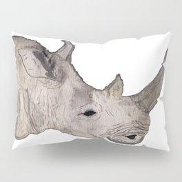 Watercolor Rhino Pillow Sham