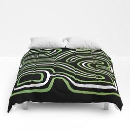 Tribal Maze I - Green Comforters