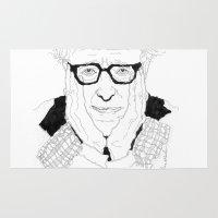woody allen Area & Throw Rugs featuring Woody Allen by lena kuzina