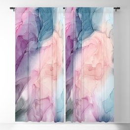 Dark and Pastel Ethereal- Original Fluid Art Painting Blackout Curtain
