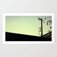 pole in the sky Art Print