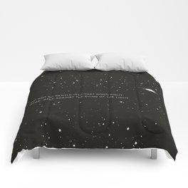 Do not go gentle into that good night.... Comforters