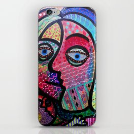 ABSTRACT HAPPY FAMILY BY PRISARTS iPhone Skin