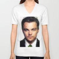 leonardo dicaprio V-neck T-shirts featuring Leonardo DiCaprio by lauramaahs