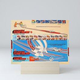 Vintage Hot Wheels Redline Flying Colors Double Scare Trade Print Poster Mini Art Print