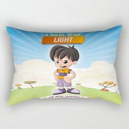 I am the Light of the world. Rectangular Pillow
