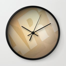 Classic Film Art Typography Wall Clock