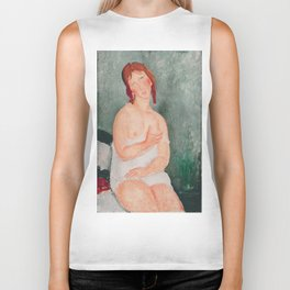 Amedeo Modigliani - Young Woman In A Shirt Biker Tank