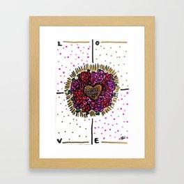 Valentines Brain Framed Art Print