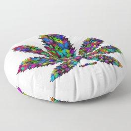 Butterflies Cannabis Leaf Floor Pillow