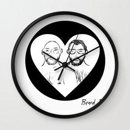 Beard Boy Love 1 Wall Clock