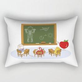 Human learning Rectangular Pillow