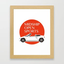 Midship Open Sports Framed Art Print