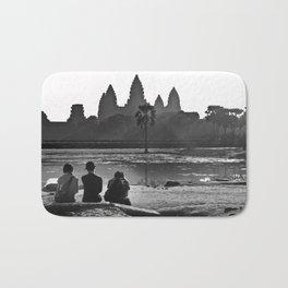 Three amigos enjoying the view of Angkor Wat Bath Mat