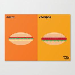 Bauru x Choripán Canvas Print