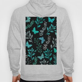 Watercolor flowers & butterflies IV Hoody