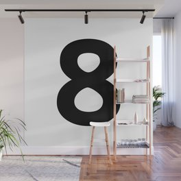 Number 8 (Black & White) Wall Mural
