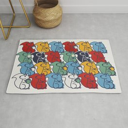 Colorful Squirrels Rug
