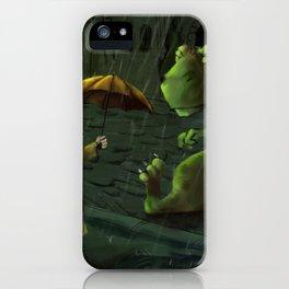 Friends In Rain iPhone Case