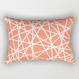 Lazer Dance Coral Rectangular Pillow