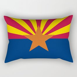 State flag of Arizona, Authentic HQ image Rectangular Pillow