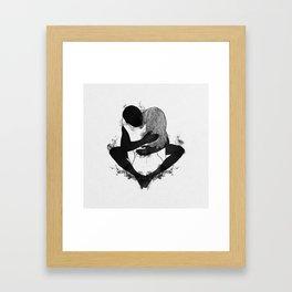Passionate love. Framed Art Print