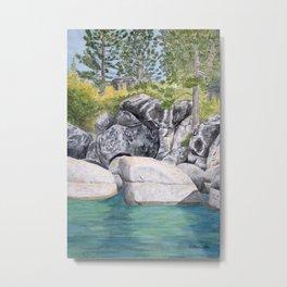 Lake Tahoe Shore View Metal Print