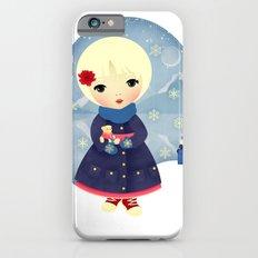 Rosy Snowflakes Slim Case iPhone 6s