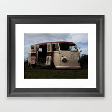 VW camper van Framed Art Print