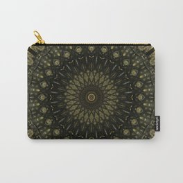 Detailed mandala in light and dark brown tones Carry-All Pouch