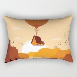 Flying House Rectangular Pillow