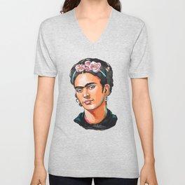Frida Kahlo - Feminist Icon Unisex V-Neck