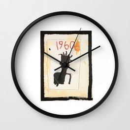 Basquiat 1960 Wall Clock