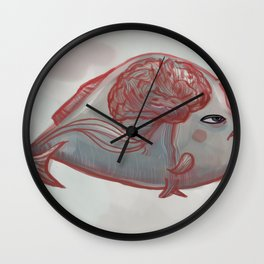 Brain Fish Wall Clock