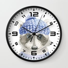 Raccoon face Wall Clock