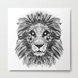 Black and White Cecil Metal Print