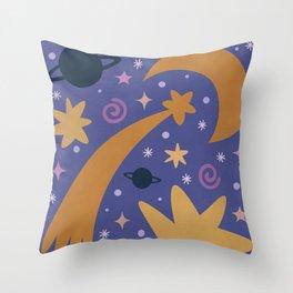 Magic of Universe Throw Pillow