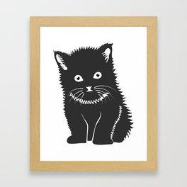 Cat Lover Art Cute Grey Kitten Framed Art Print