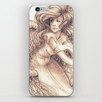jellyfish iPhone & iPod Skins featuring Jellyfish by Bea González