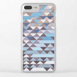 Triangle Pattern No.6 Crisp Blue Clear iPhone Case