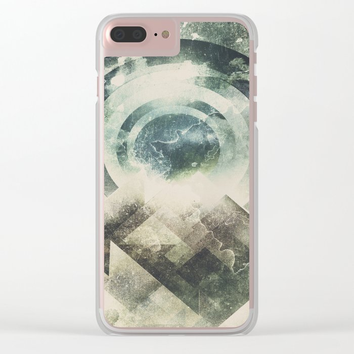 Moon travel Clear iPhone Case