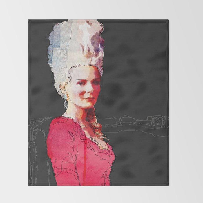 Kirsten Dunst as Marie Antoinette Throw Blanket