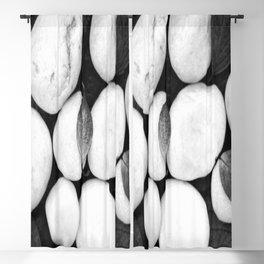Zen White Stones On A Black Background #decor #society6 #buyart Blackout Curtain