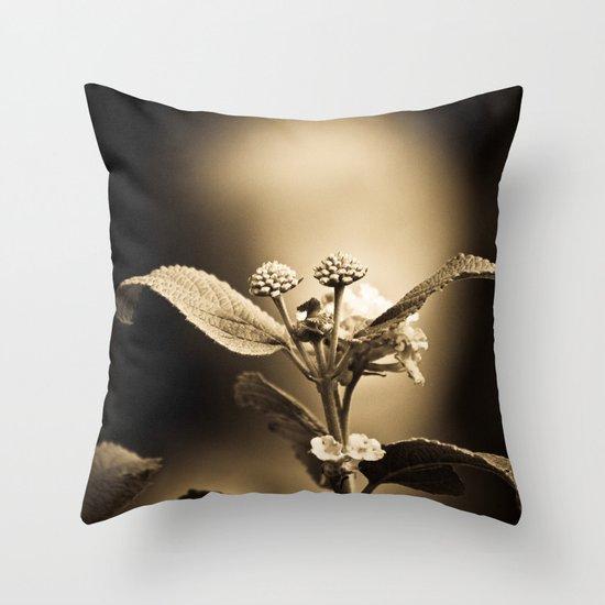 Venus in Flowers Throw Pillow