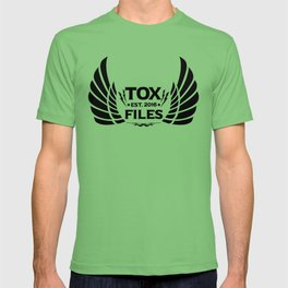 Tox Files - Black on White T-shirt
