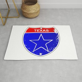 Texas Lone Star Interstate Sign Rug