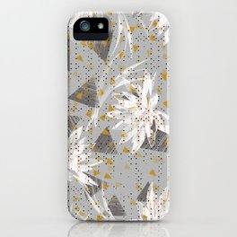 Abstract triangles and lotus iPhone Case