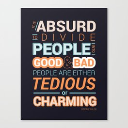 Oscar Wilde Charming Quote Poster Canvas Print